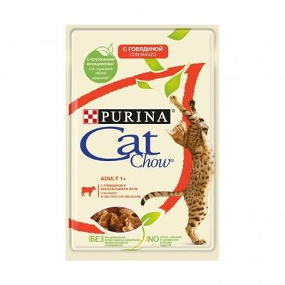 Кэт Чау Паучи для кошек Кусочки в желе 24*85 г, в ассортименте, Cat Chow Purina