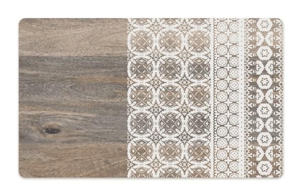 Тархонг Коврик под миски Moroccan Wood древесный с рисунком, 48*29 см, TarHong