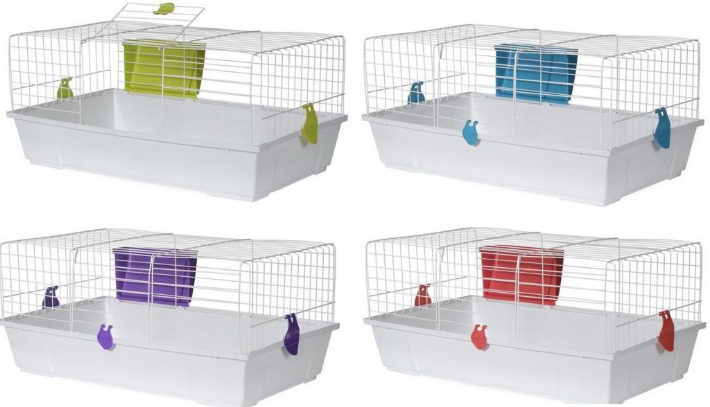 Вольтрега Клетка Бюджет93 для кроликов и морских свинок белая, сенник в комплекте, в ассортименте, Voltrega