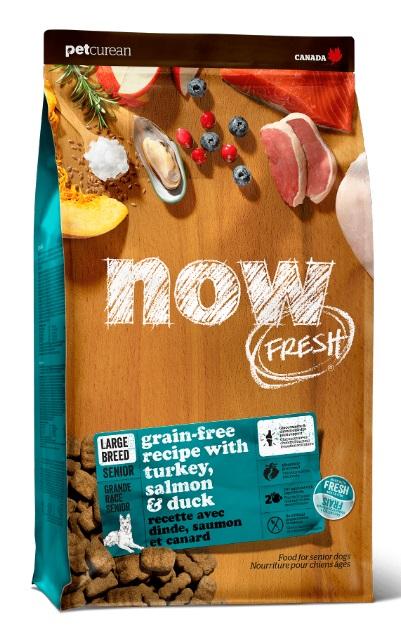 Корм Нау беззерновой для собак крупных пород склонных к полноте, Индейка/Утка/Овощи, Fresh Senior Large Breed Recipe Grain Free, в ассортименте, Now