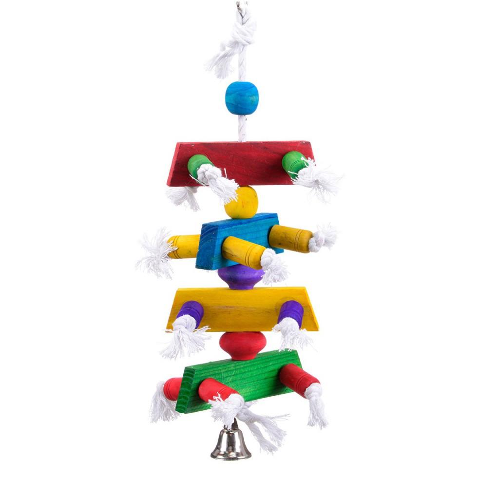 Хеппи Берд Игрушка Цветная ёлочка для средних и крупных птиц, 15*15*35 см, Happy Bird