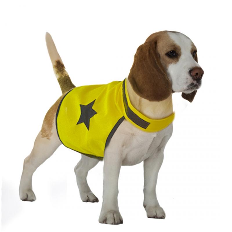 Дуво+ Жилет светоотражающий для собак, желтый, в ассортименте, Duvo+