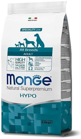 Монже Корм Dog Speciality Hypo для собак всех пород гипоаллергенный Лосось/Тунец, в ассортименте, Monge