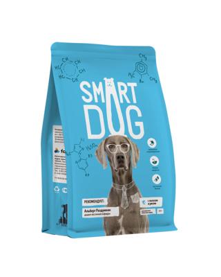 Смарт Дог Корм для собак всех пород, Лосось/Рис,  в ассортименте, Smart Dog