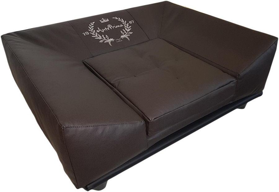 АнтеПрима Дизайнерский лежак для собак Arena, 76*62*29 см, горький шоколад, экокожа, AntePrima