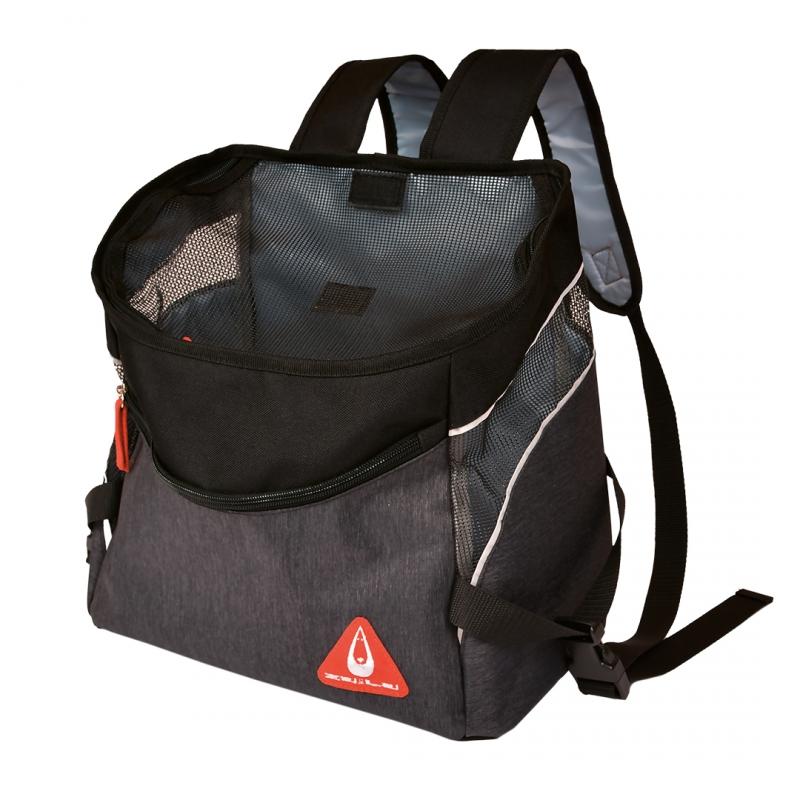 Дуво+ Переноска-рюкзак Backpack Sporty для собак и кошек 31*18*32,5 см, черный, DUVO+