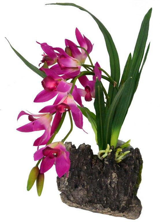 Лаки Рептайл Декоративное растение Orchid purple 40 см, Lucky Reptile