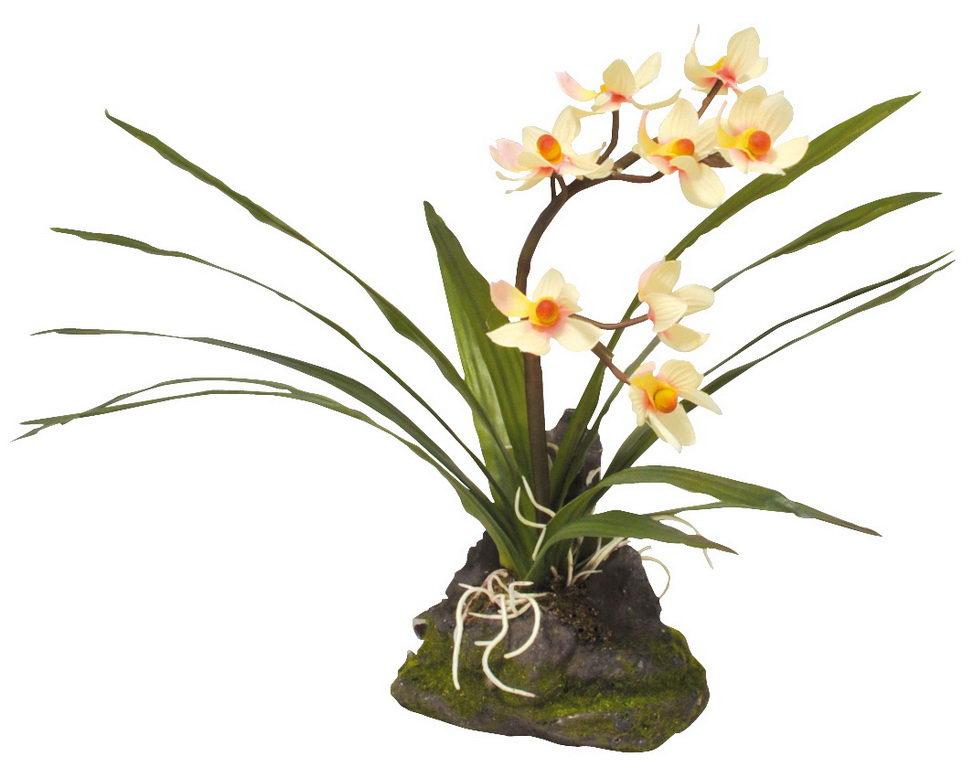 Лаки Рептайл Декоративное растение Orchid white белое 40 см, Lucky Reptile