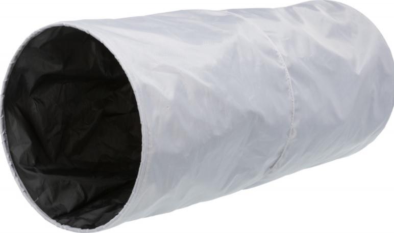 Трикси Туннель XXL для крупных кошек шуршащий, длина 85 см, диаметр 35 см, полиэстер, серый, Trixie