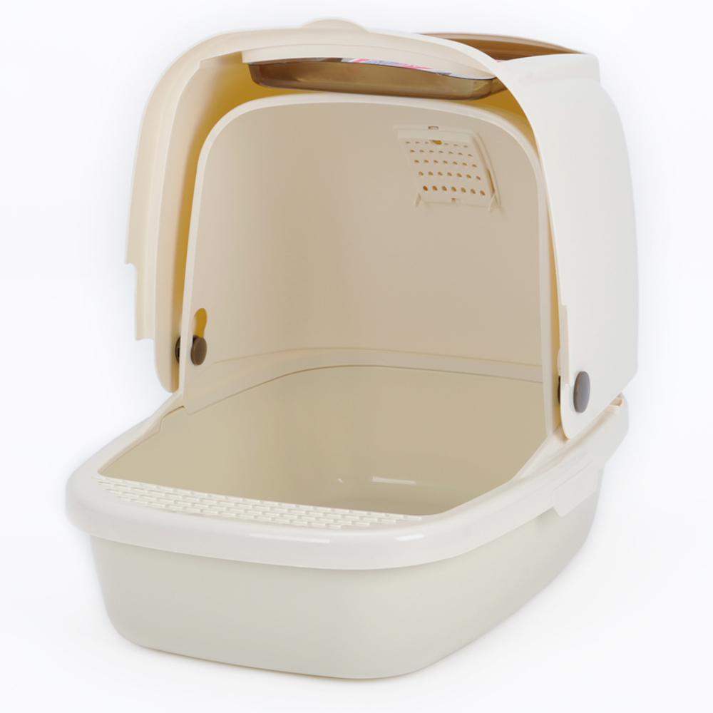 КэтИдея Туалет-бокс CL101 с откидным верхом и совком, в ассортименте, Catidea