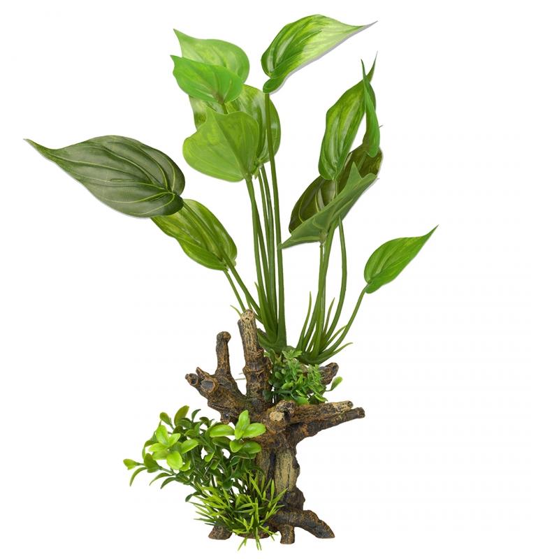 АкваДелла Декоративное растение Florascape 7 для террариумов и аквариумов, 14*11*31,5 см, AquaDella
