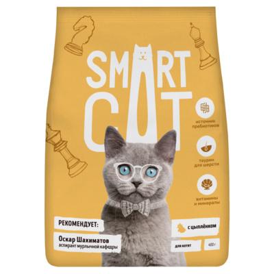 Смарт Кэт Корм для котят, Цыпленок, в ассортименте, Smart Cat