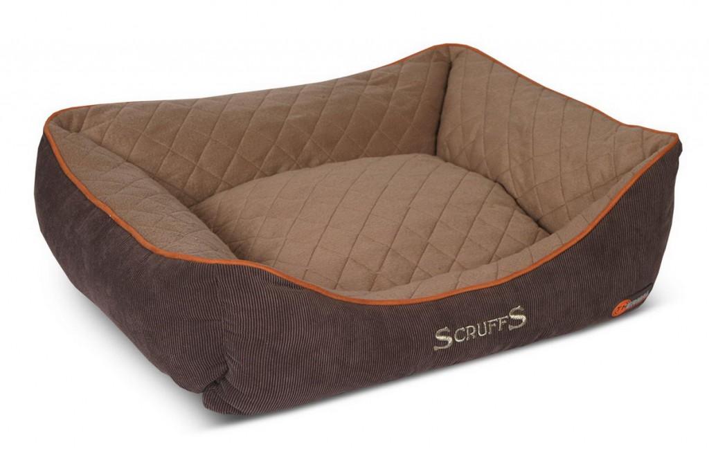 Скрафс Лежак с бортиками Thermal Box Bed сохраняющий тепло для кошек и собак, в ассортименте, коричневый, Scruffs