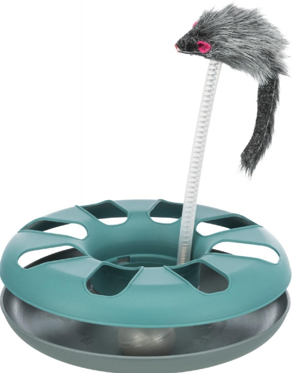 Трикси Игрушка-трек с мышкой, диамер 24 см, высота 29 см, цвета в ассортименте, Trixie