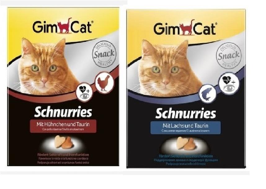 Джимкэт Витаминизированное лакомство Schnurries (Сердечки) для кошек, в ассортименте, 420 г, GimCat