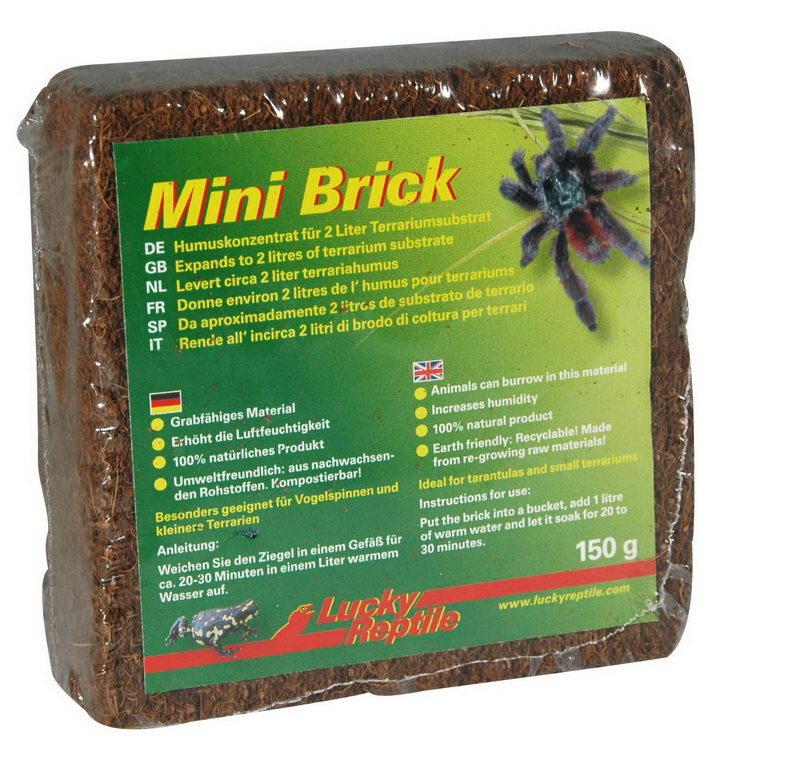 Лаки Рептайл Субстрат Mini Brick для террариумов, 150 г, Lucky Reptile