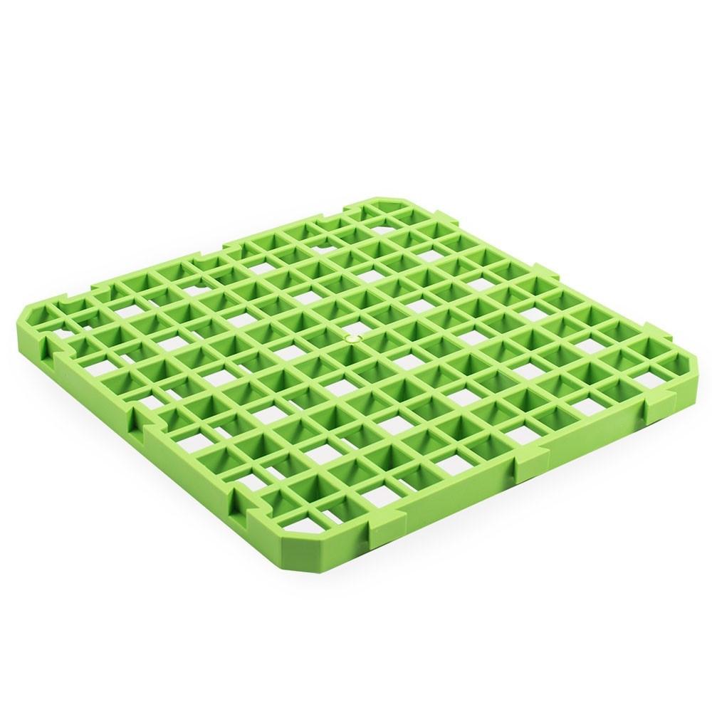 Олба Пластиковый пол для клеток 25*25 см зеленый, вес 290 г, Olba