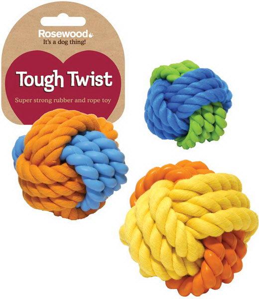 Роузвуд Игрушка для собак Мяч серия Tough Twist в ассортименте, Rosewood