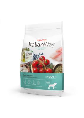 Италиан Вэй Корм сухой беззерновой Medium Ideal Weight Trout/Blueberry для собак средних пород Контроль веса и профилактика аллергии, Форель/Черника, в ассортименте, Italian Way