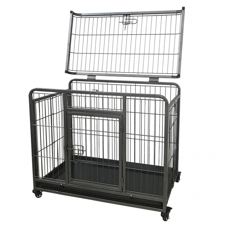 Дуво+ Клетка металлическая Heavy Duty Crate с открывающимся верхом, в ассортименте, DUVO+