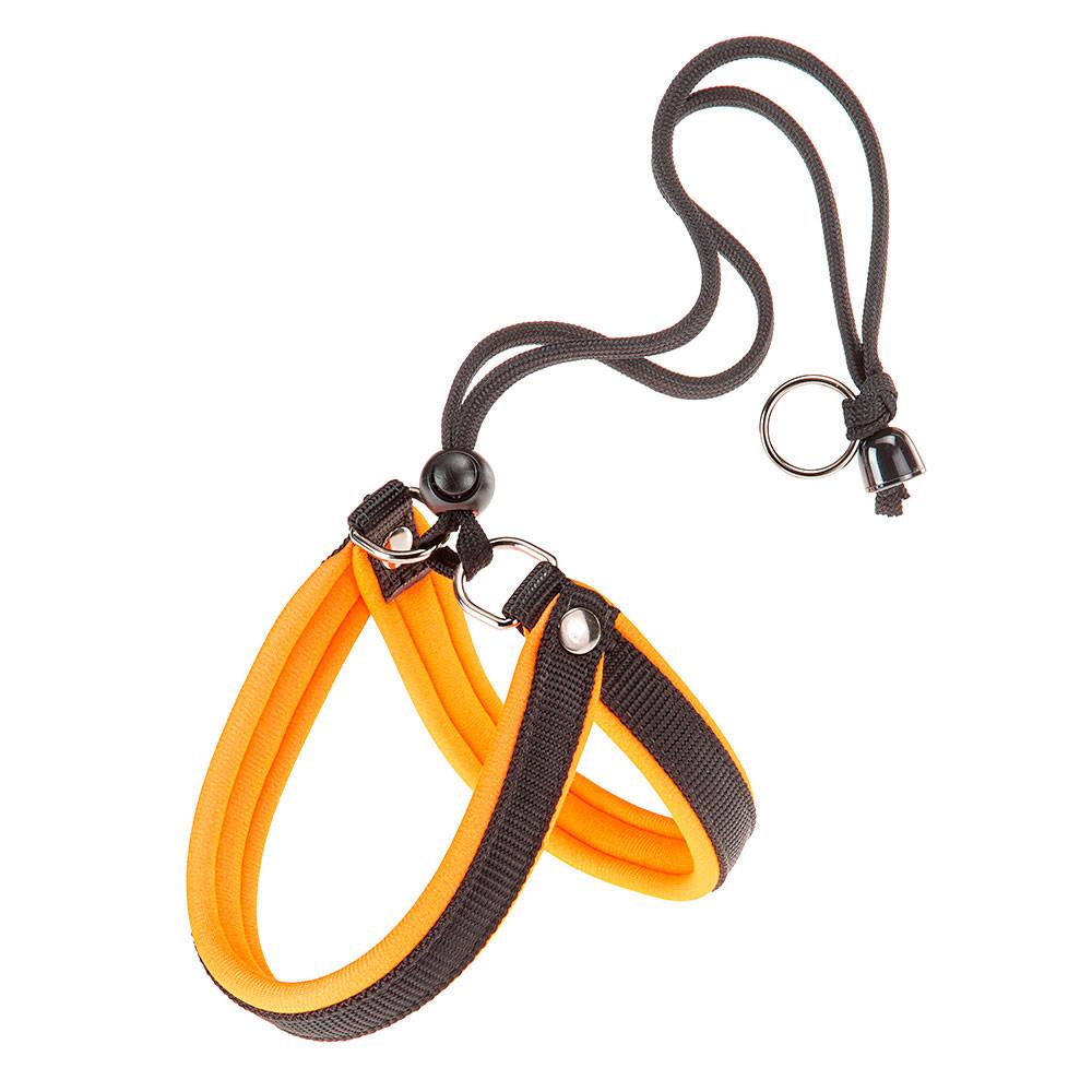 Ферпласт Шлейка Agila Fluo 4, обхват шеи и груди 44-52 см, ширина 2 см, оранжевая, нейлон, Ferplast