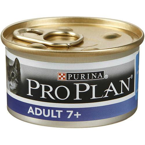 Консервы Пурина Про План Vital Age 7+ для пожилых кошек Мусс с тунцом, 24*85г, Purina Pro Plan