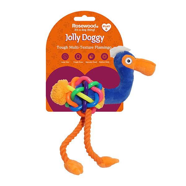 Роузвуд Игрушка для собак Фламинго серия Jolly Doggy Multi Texture, в ассортименте, Rosewood