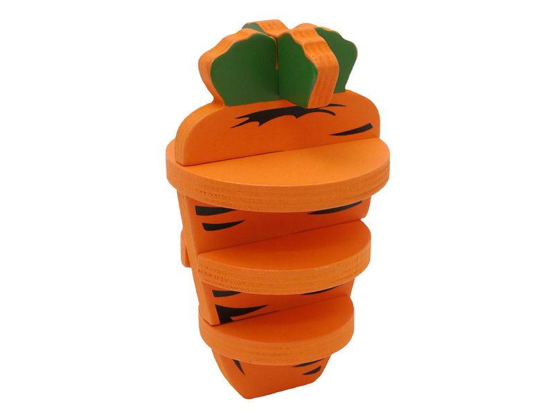 Роузвуд Игрушка для грызунов 3D Морковь деревянная, оранжевая, 14 см, Rosewood