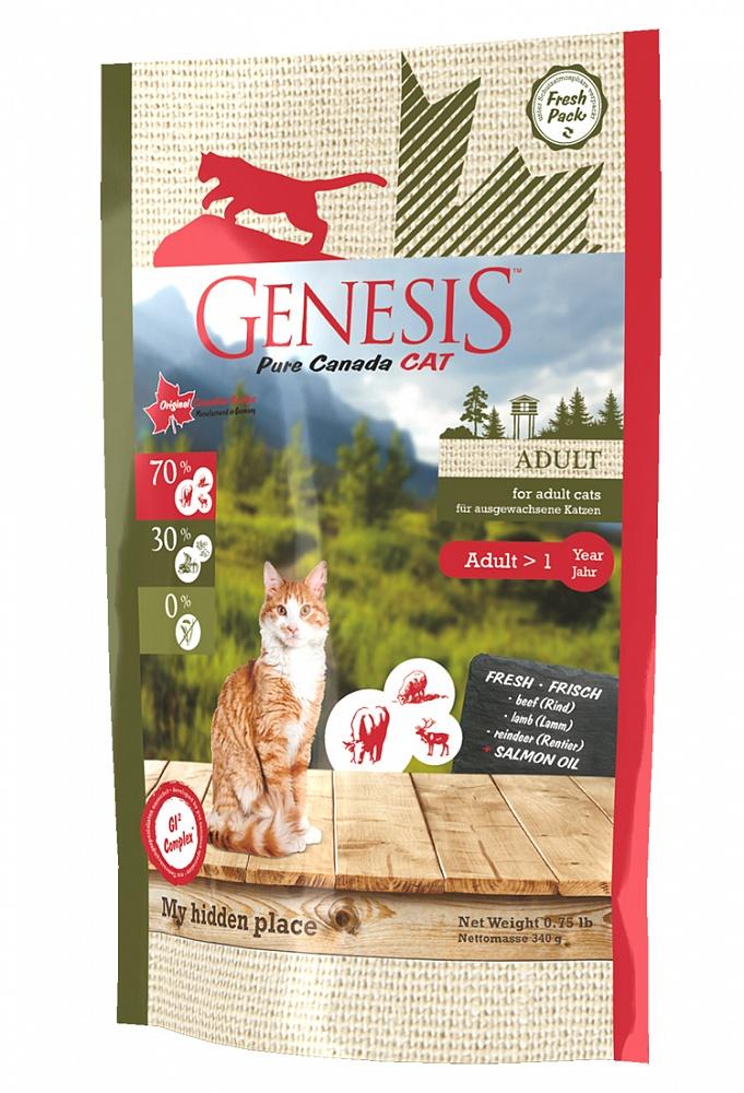 Генезис Корм Pure Canada My hidden place (Мой тайный уголок) для кошек, Говядина/Ягненок/Олень, в ассортименте, Genesis