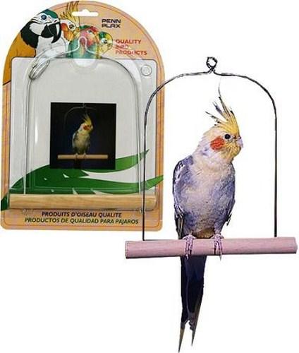 Пенн Плекс Качели с деревянной жердочкой для птиц, в ассортименте, Penn-Plax