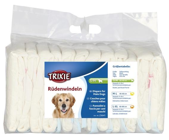 Трикси Пояс для кобелей впитывающий одноразовый, 12 штук, в ассортименте, Trixie