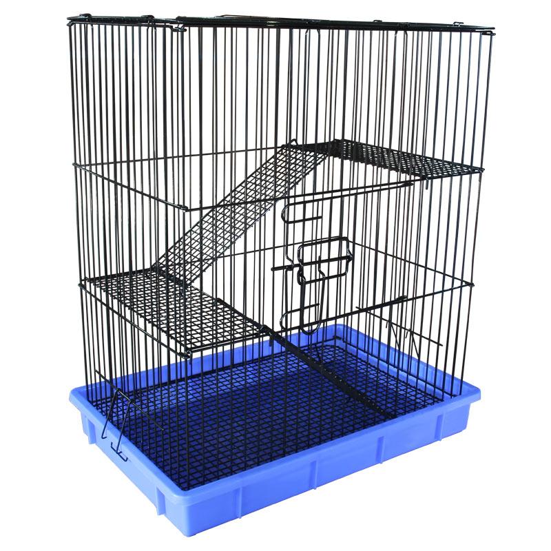 Триол Клетка C1 с изолированным поддоном, 55,5*37*64 см, поддон синий, цвет решетки в ассортименте, Triol