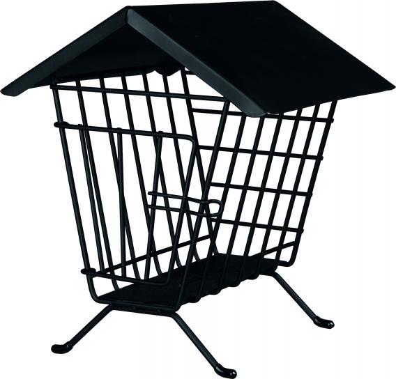 Трикси Кормушка для сена и лакомств напольная, металл, 20*20*23 см, черная, Trixie