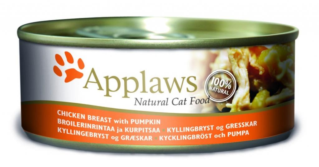 Эплауз Консервы для кошек Cat Chicken Breast and Pumpkin, с куриной грудкой и тыквой, в ассортименте, Applaws