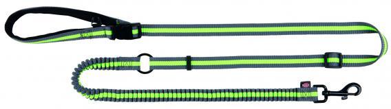 Трикси Поводок для пробежки, длина 133–180 см, ширина 2 см, серый/зеленый, Trixie