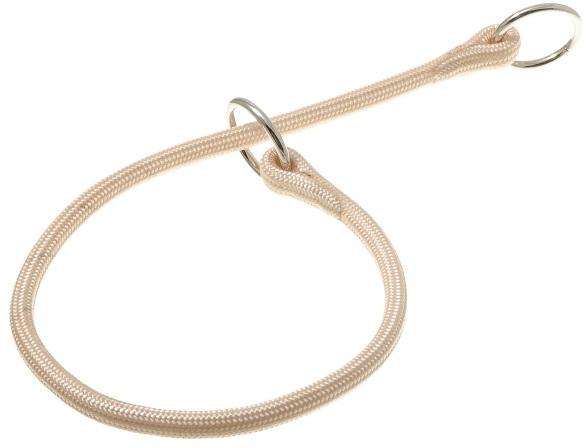 ПетЛайн Ошейник-удавка круглая с флажком-ограничителем, с двумя кольцами, 6 мм*70 см, нейлон, в ассортименте, PetLine