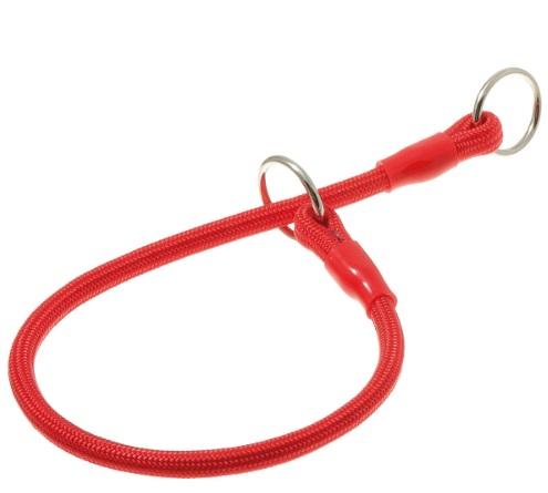 ПетЛайн Ошейник-удавка круглая с флажком-ограничителем, с двумя кольцами, 6 мм*90 см, нейлон, в ассортименте, PetLine