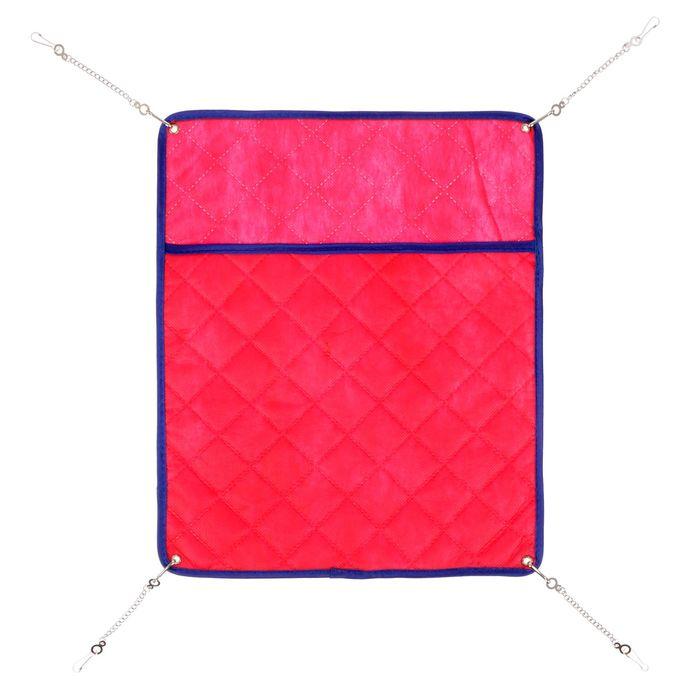 ШуШу Гамак-карман Стандарт подвесной двусторонний на металлических цепочках, двухслойный спанбонд и синтепон, в ассортименте, Shu-Shu