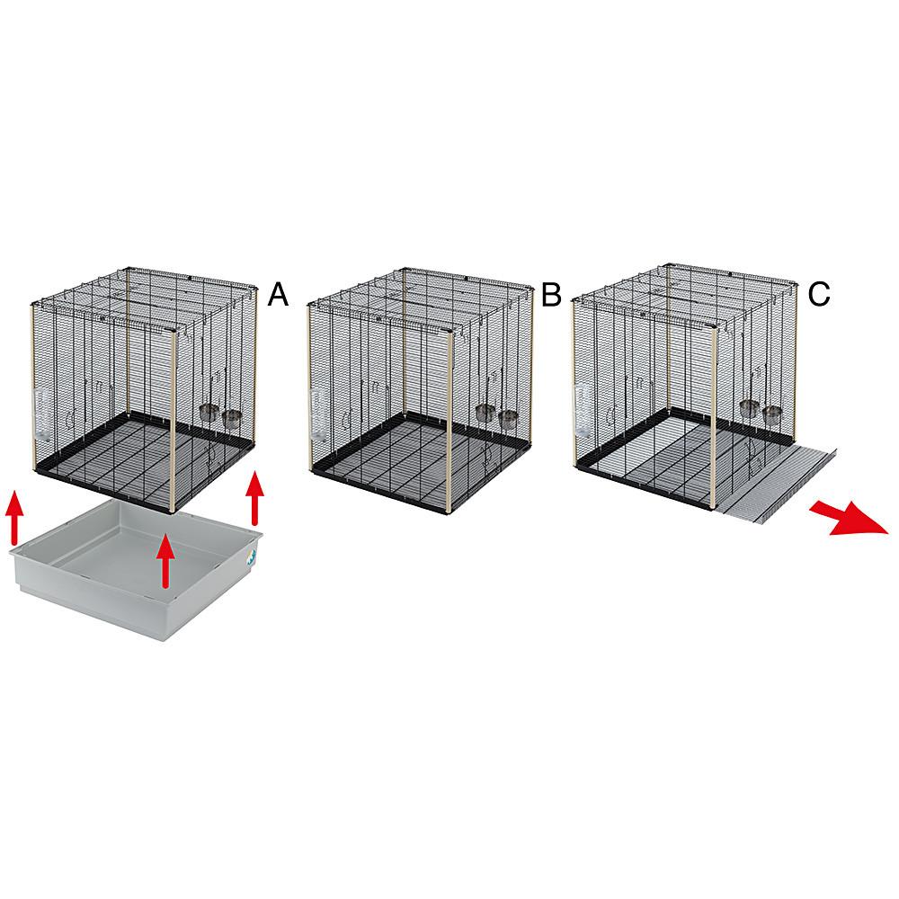 Ферпласт Клетка для грызунов и хорьков Scoiatolli kd с изолированным поддоном, 80*50*76,5 см, белая решетка/серый поддон, Ferplast