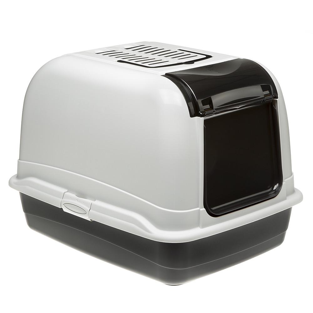 Ферпласт Туалет-бокс для кошек Bella Maxi Cabrio с угольным фильтром, 65,5*50*47 см, цвета в ассортименте, Ferplast