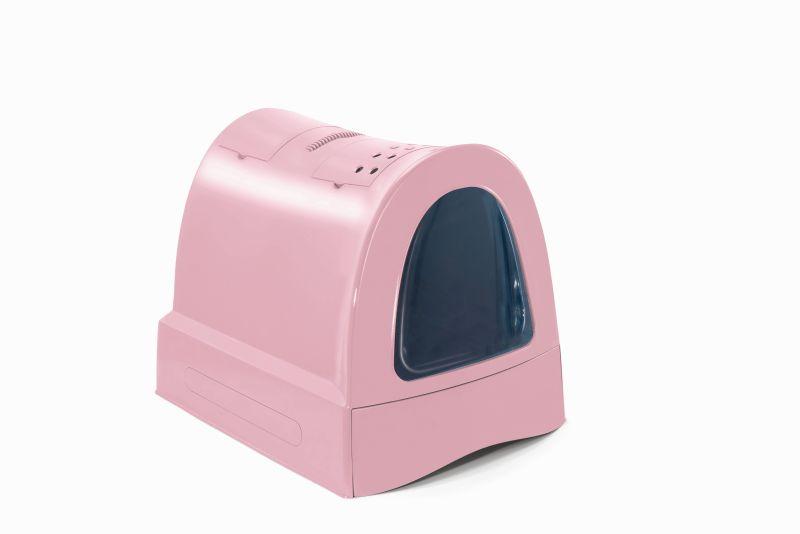 Имак Туалет-бокс для кошек Zuma с выдвижным лотком, угольным фильтром, совком, 40*56*42,5 см, в ассортименте, Imac
