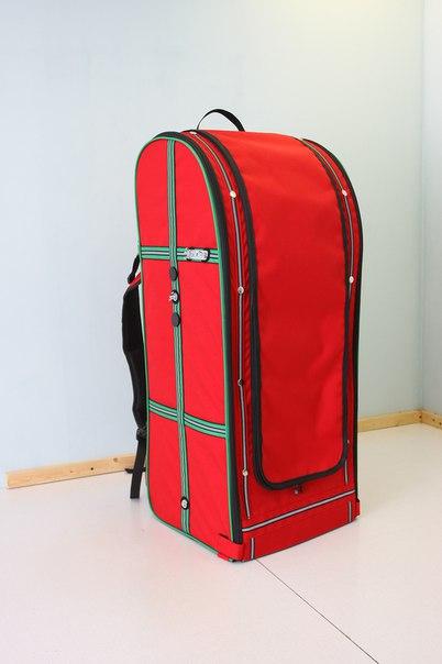Переноска-рюкзак StePan для ары, 40*34*90 см, вес 4 кг, цвет красный, синий