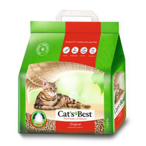 Кетс Бест Наполнитель древесный комкующийся Cat's Best Original, в ассортименте, Cat's Best