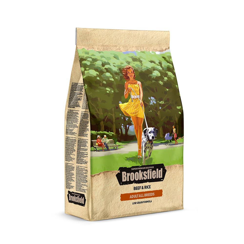 Бруксфилд Корм сухой низкозерновой Adult Dog All Breeds Beef для взрослых собак, Говядина/Рис, в ассортименте, Brooksfield