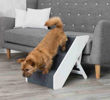Трикси Приставная лесенка для собак и кошек Pet 40*67 см, высота до 47 см, МДФ/войлок, Trixie