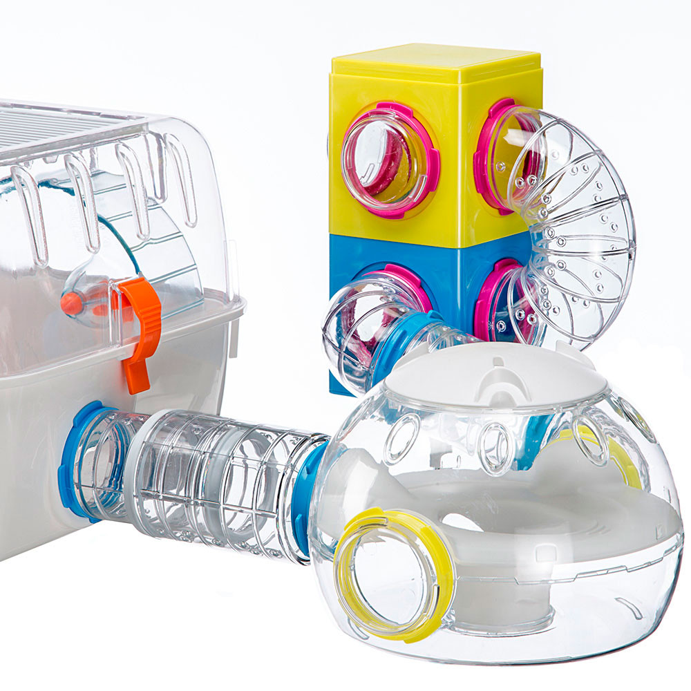 Ферпласт Труба-поворот Tube FPI 4806 для модульных клеток Ферпласт, диаметр 6 см, в ассортименте, Ferplast