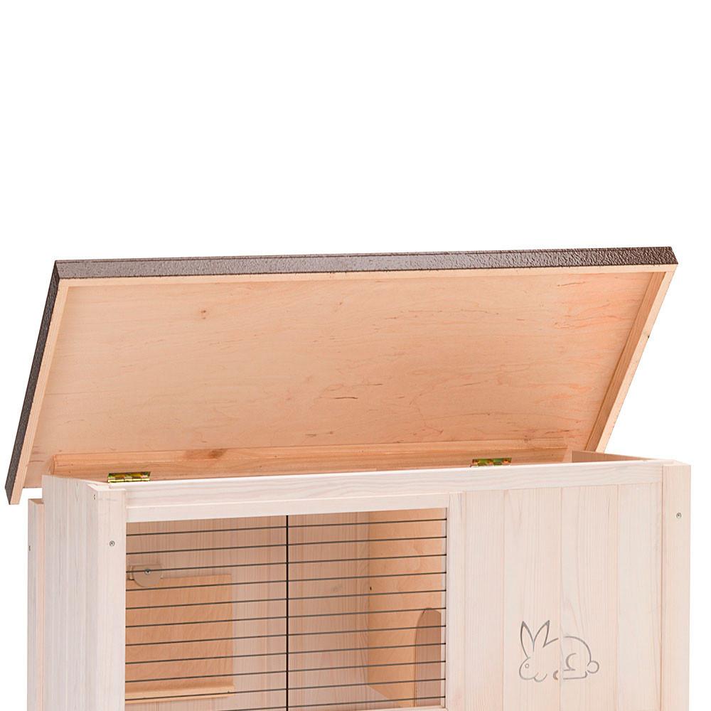 Ферпласт Деревянная клетка Ranch 100 Basic для кроликов и морских свинок, 92*47*81 см, Ferplast