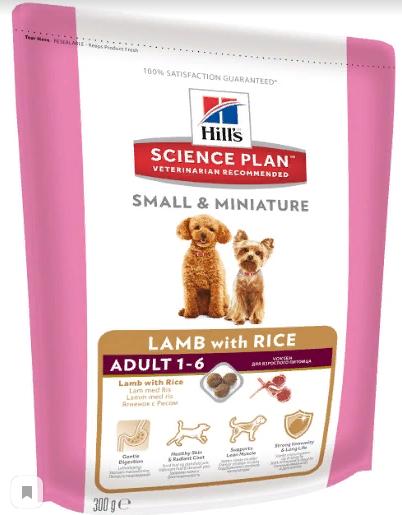 Хиллс Корм сухой Science Plan Small/Mini для взрослых собак мелких и миниатюрных пород, Ягненок, в ассортименте, Hills