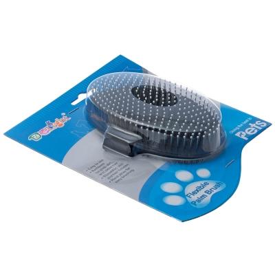 ДеЛайт Щетка резиновая с метталическими зубьями на руку для кошек и собак, в ассортименте, DeLIGHT