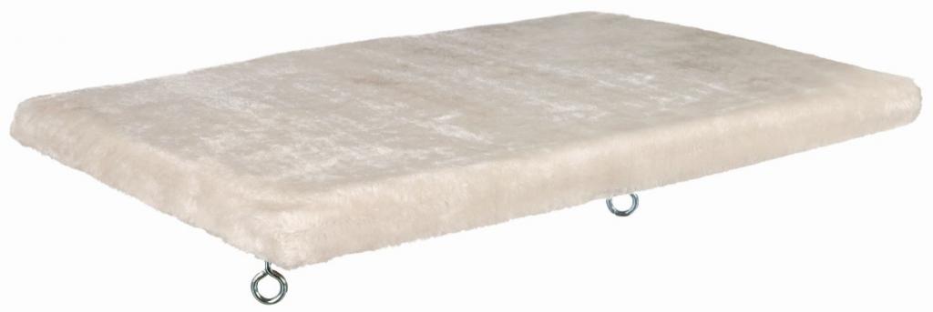 Трикси Плюшевый лежак на подоконник для кошек, 51*36 см, бело-серый, съемный чехол, Trixie